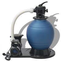 vidaXL Sandfilterpumpe 1000 W 16.800 L/h XL Blau