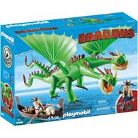 PLAYMOBIL Dragons - Morrie & Schorrie met Burp & Braak