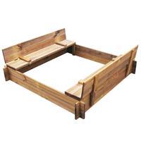 Zandbak gempregneerd hout vierkant