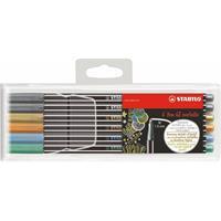Stabilo Pen 68 metallic etui 6 stuks