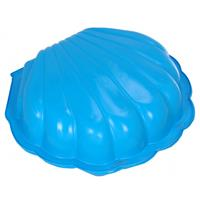 Free and Easy Zandbak schelp blauw 102x98x20cm 2-delig.