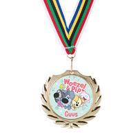 Woezel & Pip medaille - Goud