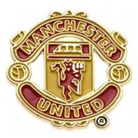 Merchandise Manchester United Badge - Rood/Geel