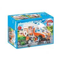 Playmobil City Life - Ambulance en ambulanciers