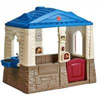 Step2 speelhuisje Neat & Tidy Cottage blauw 130 x 120 x 89 cm