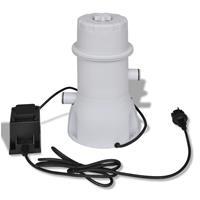vidaXL Filterpumpe Poolfilter Filter Pumpe Pool 1000 gal / h