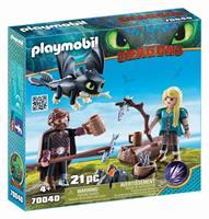 Playmobil Dragons - Hikkie en Astrid met Babydraak