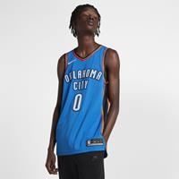 Russell Westbrook Icon Edition Authentic (Oklahoma City Thunder) Nike NBA Connected Jersey voor heren - Blauw