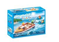 Playmobil Family Fun - Motorboot met funtubes