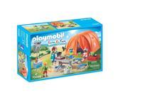 Playmobil Family Fun - Kampeerders met tent