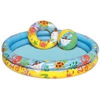 BSTW Kinder opblaas zwembad 3-delig 122 x 25 cm Groen