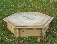 Gardexo Zandbak zeskant met deksel 175x175x30 cm