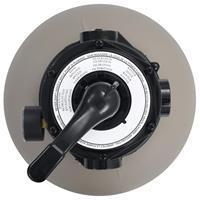 Zwembadzandfilter met 4-positie ventiel 350 mm grijs