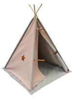 pericles Overseas Tipi Tent Canvas Luxe Smoke / Blush