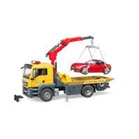 Bruder 3750  Vrachtwagen MAN Afsleepdienst Roadster met Licht en Geluid