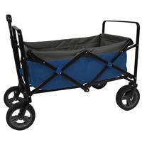 Opvouwbare Bolderwagen Blauw/Grijs/Zwart