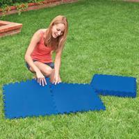 Zwembadbodembeschermers 8 st 50x50 cm blauw