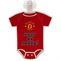 Taylors Football Souvenirs Manchester United Raambord Baby On Board - Rood