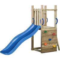 SwingKing Speeltoren Irma met glijbaan - blauw