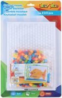 insteekmozaïek 230 delig 19 cm multicolor