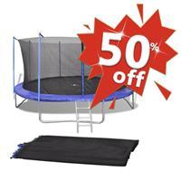 VidaXL Veiligheidsnet voor 4,57 m ronde trampoline PE zwart
