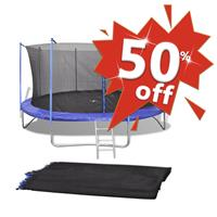 VidaXL Veiligheidsnet voor 3,66 m ronde trampoline PE zwart