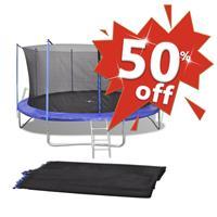 VidaXL Veiligheidsnet voor 4,26 m ronde trampoline PE zwart