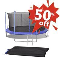VidaXL Veiligheidsnet voor 3,96 m ronde trampoline PE zwart