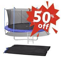 VidaXL Veiligheidsnet voor 3,05 m ronde trampoline PE zwart