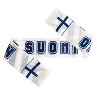 Merchandise Finland Satin Sjaal EURO 2020 - Wit/Blauw
