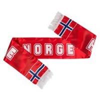 Merchandise Noorwegen Satin Sjaal EURO 2020 - Rood/Blauw/Wit