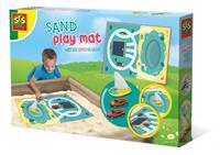 zand speelmat met water en wegen
