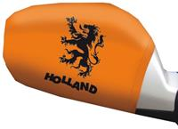 Free and Easy autospiegelhoesjes Holland oranje 2 stuks