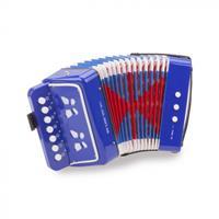 accordeon met muziekboek blauw