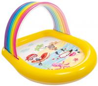 Intex opblaaszwembad Rainbow Spray 147 x 130 cm geel/blauw