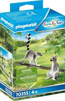 PLAYMOBIL Family Fun: Koppel ringstaartmaki's (70355)