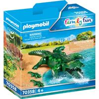 PLAYMOBIL Family Fun: Alligator met baby (70358)