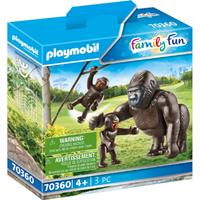 PLAYMOBIL Family Fun: Gorilla met baby's (70360)