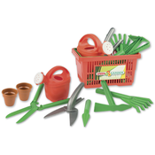 Korb mit Gartengeräte