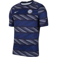 nike Chelsea Breathe Strike Trainingsshirt Pre Match 2020-2021 Blauw Grijs