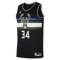 Jordan Giannis Antetokounmpo Bucks Statement Edition 2020 Swingman  NBA-jersey - Zwart