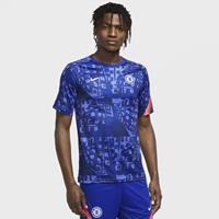 Nike Chelsea FC Warming-uptop met korte mouwen voor heren - Blauw