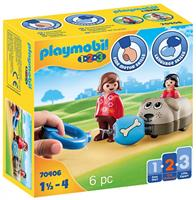 PLAYMOBIL 1,2,3 Hondentrein (70406)