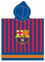 Carbotex FC Barcelona handoek en poncho 120 x 60 cm katoen