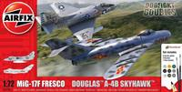 Airfix Mig 17F Fresco Douglas A-4B Skyhawk Dogfight Double Model Kit
