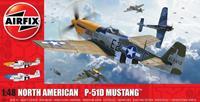 North American P51-D Mustang (Filletless Tails) Series 5 1:48 Air Fix Model Kit