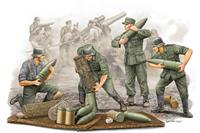 Military German Field Howitzer Gun Crew