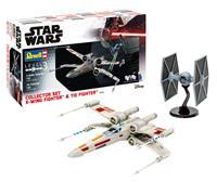 Revell Star Wars Model Kit Gift Set 1/57 X-Wing Fighter & 1/65 TIE Fighter