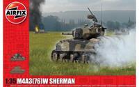 "M4A3(76)W ""Battle of the Bulge"" 1:35 Tank Air Fix Model Kit"