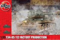 T34-85 112 Factory Production 1:35 Tank Air Fix Model Kit